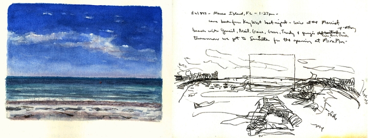Sketchbooks L 24 C - Beach - Marco Island, FL