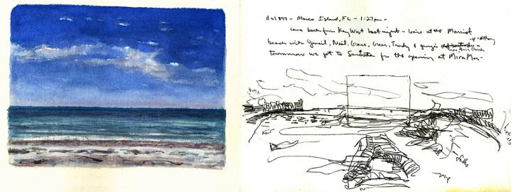 Sketchbooks L 24 C - Beach - Marco Island, FL