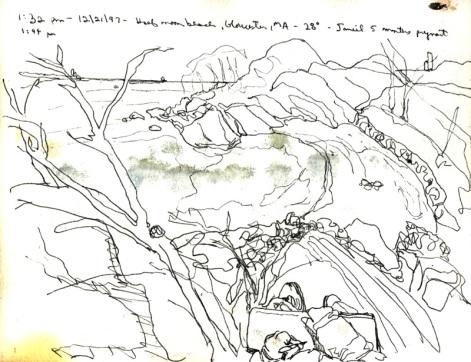 Sketchbooks L 28 A - Half Moon Beach, Gloucester, MA