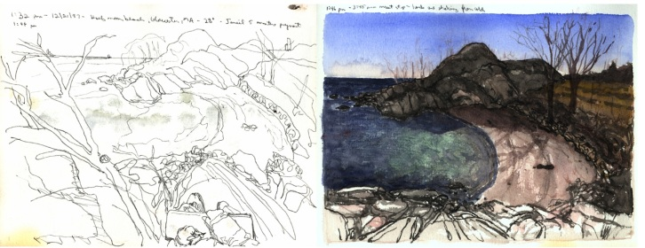Sketchbooks L 28 C - Half Moon Beach, Gloucester, MA