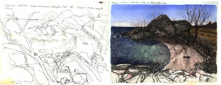 Sketchbooks L 28 C - Half Moon Beach, Gloucester, MA