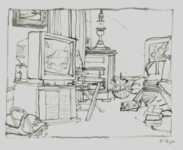 Sketchbooks M 10 - Living Room, Gloucester, MA