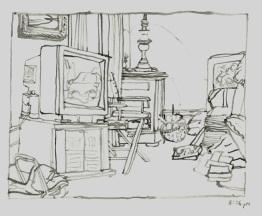 Sketchbooks M 10 - Living Room, Gloucester, MA