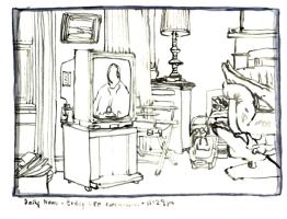 Sketchbooks M 12 - Buddy Lee Commercial, Living Room, Gloucester, MA
