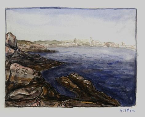 Sketchbooks M 13 - Rocks by Half Moon Beach, Gloucester, MA