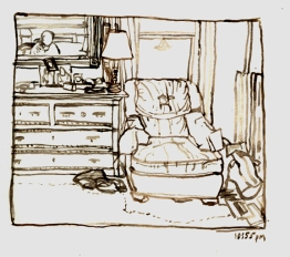 Sketchbooks M 14 - Chair, Living Room, Gloucester, MA