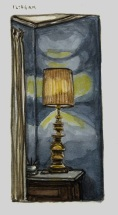 Sketchbooks M 7 - Lamp, Living Room, Gloucester, MA