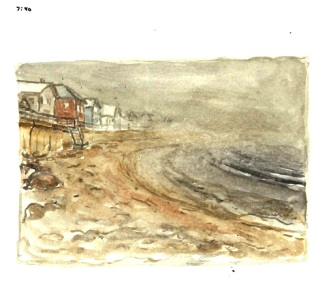 Sketchbooks M 8 - Long Beach in Fog