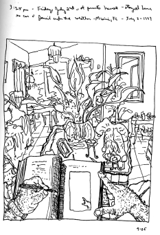 Sketchbooks P 9 - Living Room - Parent's House - Miami, FL