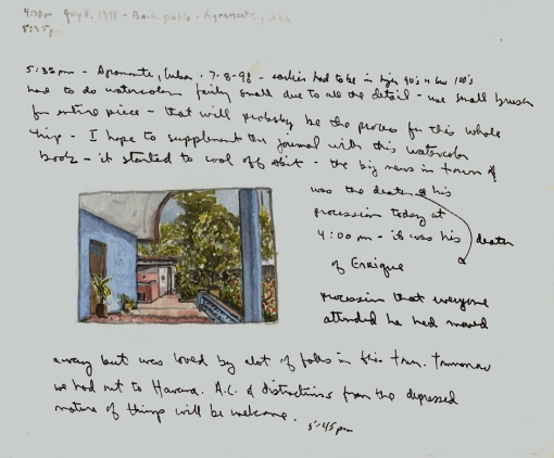 Sketchbook Q 1 - Agramonte, Cuba