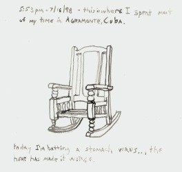 Sketchbook Q 13 - Rocking chair, Agramonte, Cuba