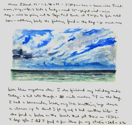Sketchbooks Q 14 - Beach - Marco Island, FL