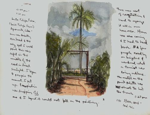 Sketchbook Q 6 - Finca Santa Felipa, Agramonte, Cuba