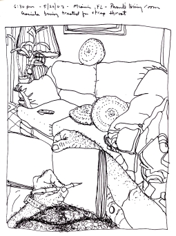 Sketchbooks R 1 - Living Room - Parent's House - Miami, FL