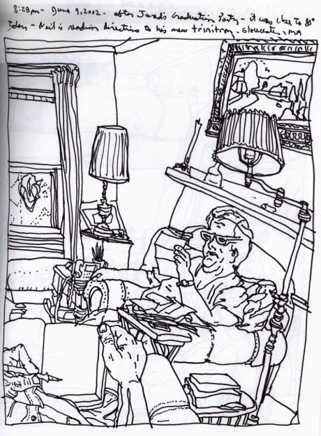 Sketchbooks R 11 - Living Room, Gloucester, MA