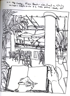 Sketchbooks R 3 - Cafe Cardozo - Miami Beach, FL