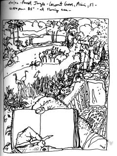 Sketchbooks R 4 - Parrot Jungle - Coconut Grove - Miami, FL