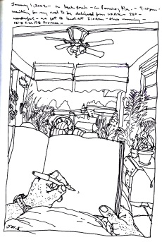 Sketchbooks S 23 - Outside Patio - Parent's House - Miami, FL
