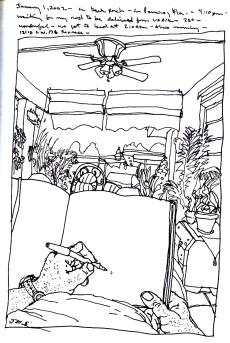 Sketchbooks S 23 - Outside Patio - Parent's House - Miami, FL
