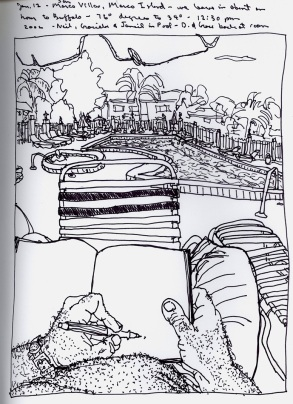 Sketchbooks S 26 - Poolside - Marco Island, FL