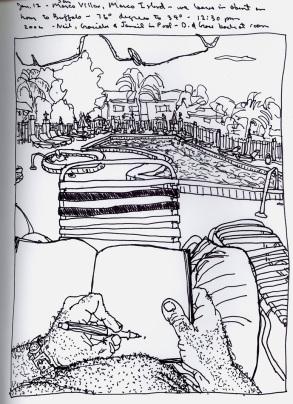 Sketchbooks S 26 - Poolside - Marco Island, FL