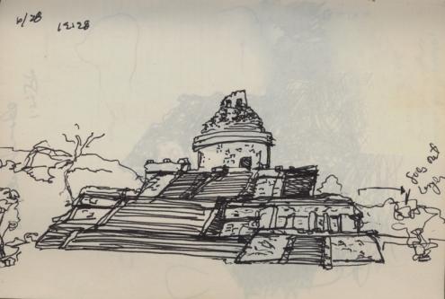 Sketchbooks F 3 - Chicken - Itza, Mexico