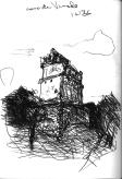 Sketchbooks F 4 - Casa de Venado, Chichen Itza, Mexico