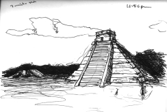 Sketchbooks F 5 - Chichen - Itza, Mexico
