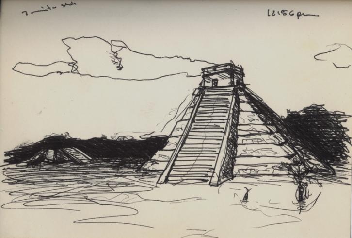 Sketchbooks F 5 - Chicken - Itza, Mexico