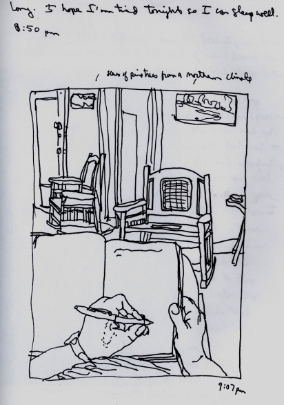 Sketchbooks H 5 - Living Room - Agramonte, Cuba