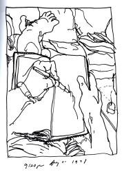 Sketchbooks K 17 - Living Room - Dunkirk, NY