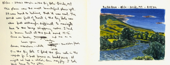 Sketchbooks N 3 C - Big Hole River - Divide, MT
