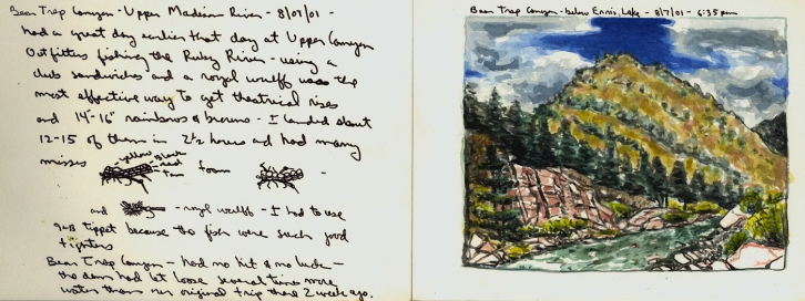 Sketchbooks N 6 C - Bear Trap Canyon - Below Ennis Lake, MT
