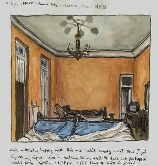 Sketchbooks Q 2 - Casa del Cientifico - Havana, Cuba