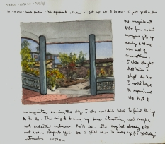Sketchbooks Q 4 - Back Patio - Agramonte, Cuba