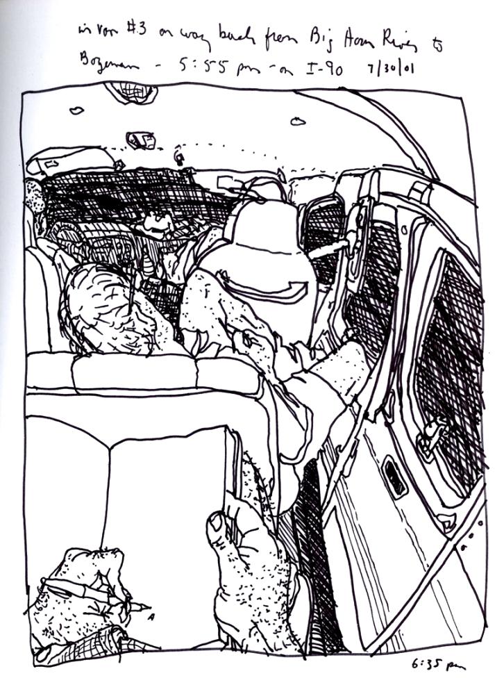 Sketchbooks S 10 - In Van - Montana