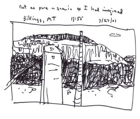 Sketchbooks S 7 - Billings Suburbs from a Van - Montana