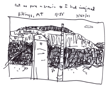 Sketchbooks S 7 - Billings Suburbs from a Van - Montana