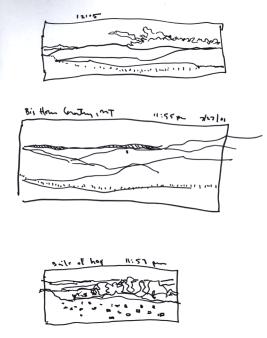 Sketchbooks S 8 - Big Horn Region from a Van - Montana