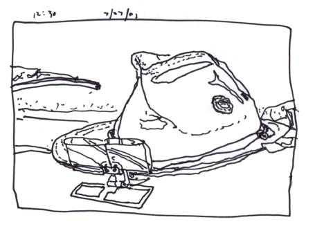 Sketchbooks S 9 - Paul's Hat - The Dashboard - Montana