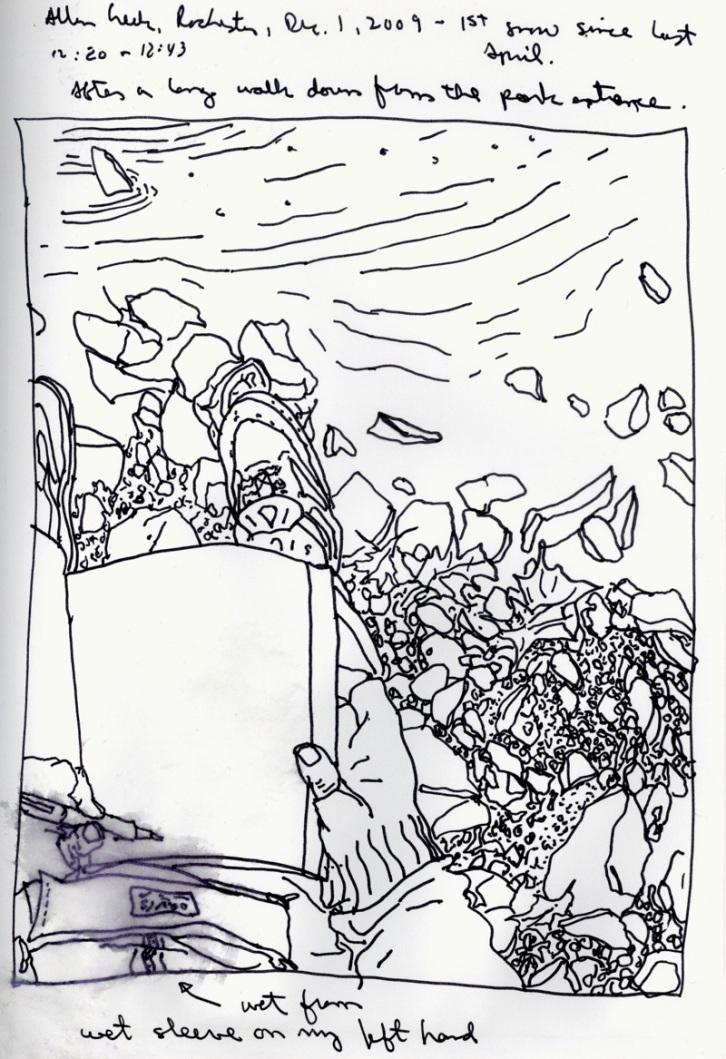 Sketchbooks T 21 - Allen Creek - Rochester, NY