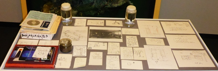 Detail of table outlining three years of installation plans and leeches in jars