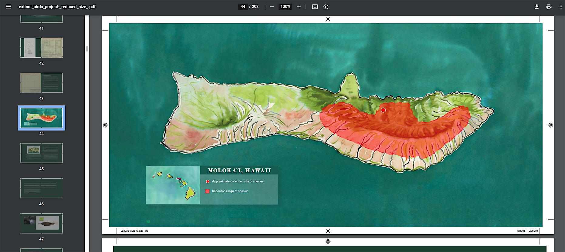 Screen Shot inside extinct birds book